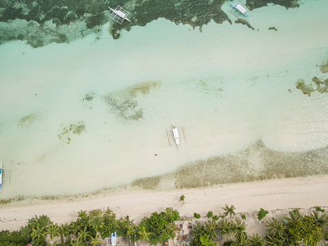Eco Tourism「Drone shot aerial view of tropical beach, Philippines」:スマホ壁紙(11)