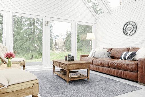 Comfortable「Rustic Living Room Interior」:スマホ壁紙(10)