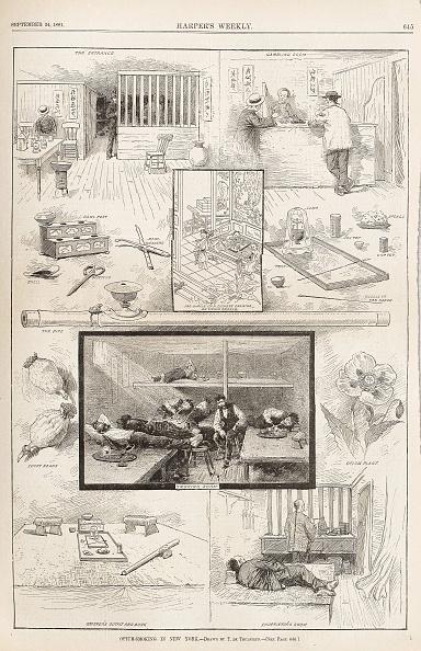 Opium「Opium-Smoking in New York (From Harper's Weekly, September 24, 1881), 1881」:写真・画像(14)[壁紙.com]