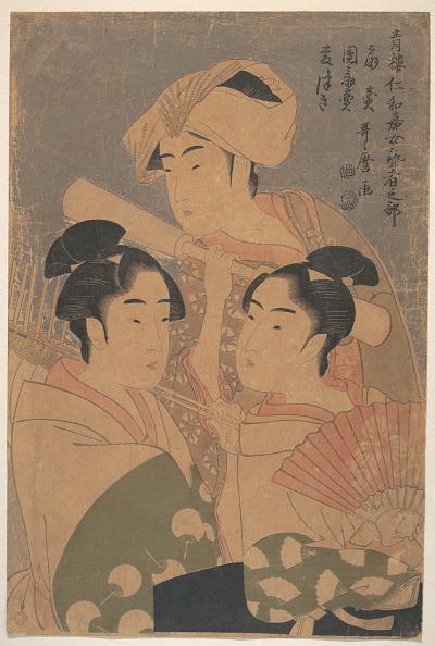 江戸時代「The Niwaka Performers, c」:写真・画像(14)[壁紙.com]