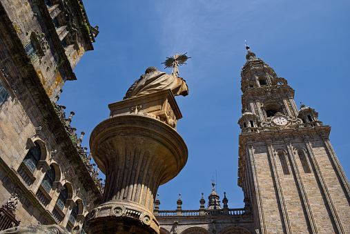 Camino De Santiago「Spain, Santiago de Compostela, The Way of St James,Plaza de Praterias and Cathedral」:スマホ壁紙(11)