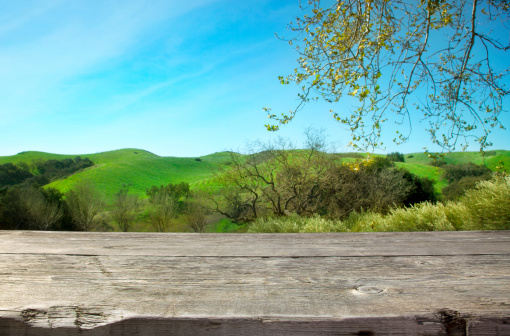 Vineyard「Wooden table with nature background」:スマホ壁紙(16)