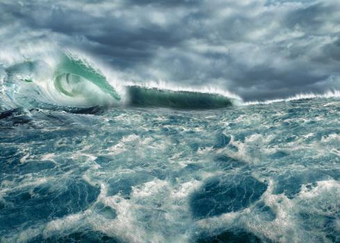 Indian Ocean「Freak wave on ocean, Tsunami waves」:スマホ壁紙(14)