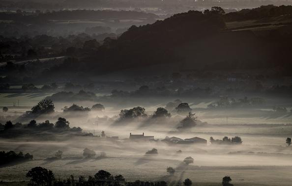 Farm「Autumn Sun Rises Over The Somerset Levels」:写真・画像(10)[壁紙.com]