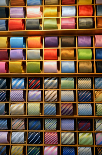Rack「Neckties displayed in store, Venice, Italy」:スマホ壁紙(13)