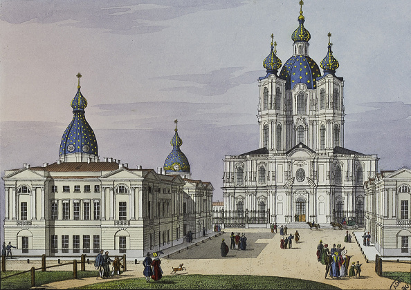 Neva River「The Smolny Convent of the Resurrection in St Petersburg, First half of the 19th cent」:写真・画像(17)[壁紙.com]