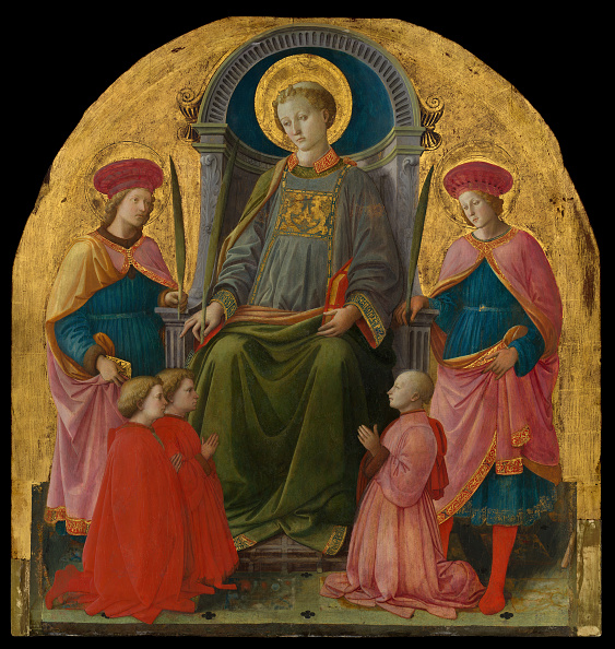Tempera Painting「Saint Lawrence Enthroned With Saints And Donors」:写真・画像(17)[壁紙.com]