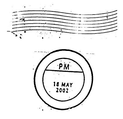 Postmark「Postal Marks and stamps on white background」:スマホ壁紙(8)