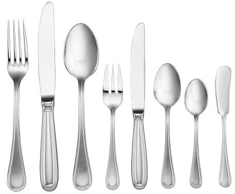 Table Knife「Silverware Set (with clipping path)」:スマホ壁紙(7)