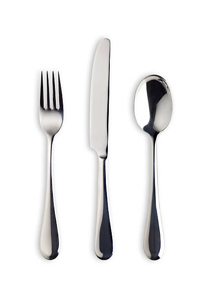 Silverware Set with Fork, Knife, and Spoon (Clipping Path):スマホ壁紙(壁紙.com)