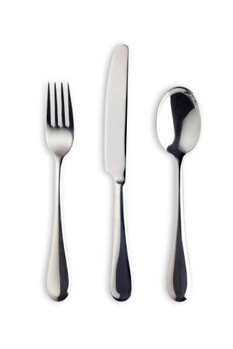 Fork「Silverware Set with Fork, Knife, and Spoon (Clipping Path)」:スマホ壁紙(0)