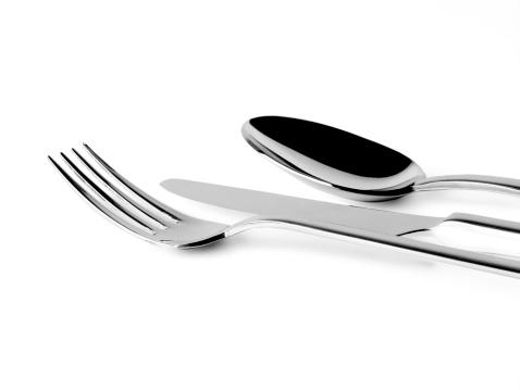 フォーク「食器白で分離」:スマホ壁紙(2)