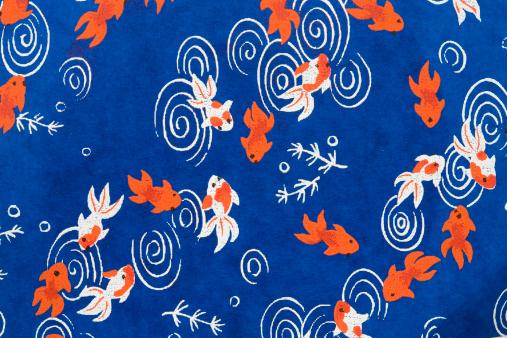 金魚「Japanese paper with goldfish pattern」:スマホ壁紙(9)