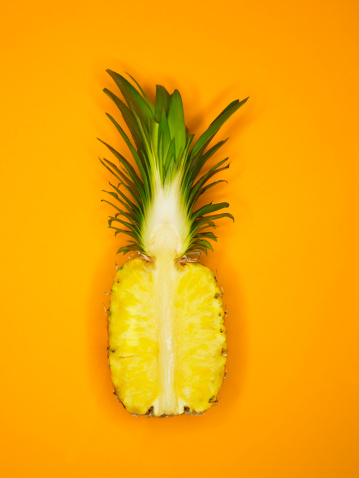 Orange - Fruit「Halved pineapple」:スマホ壁紙(6)