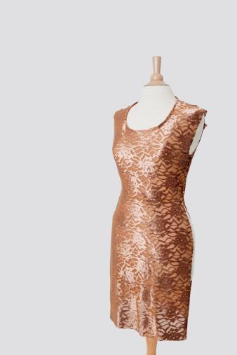 Designer Clothing「Dress on tailor's dummy over gray background」:スマホ壁紙(16)