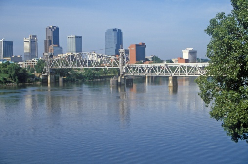 "Arkansas River「""Arkansas River view from North Little Rock, Little Rock, Arkansas""」:スマホ壁紙(18)"
