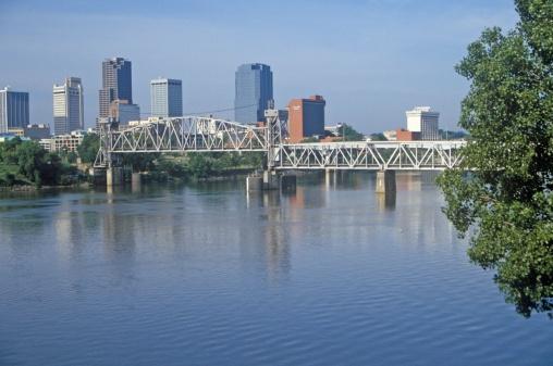 """リトルロック「""""Arkansas River view from North Little Rock, Little Rock, Arkansas""""」:スマホ壁紙(8)"""