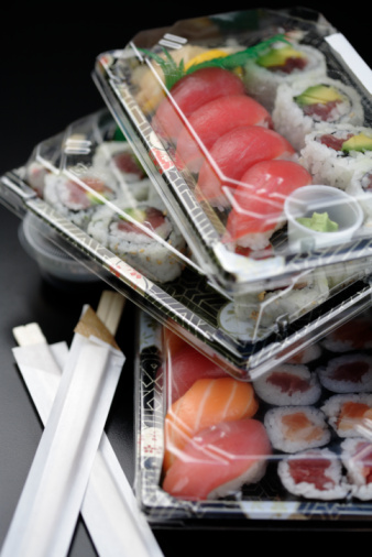 Wasabi Sauce「Sushi in takeout containers」:スマホ壁紙(19)