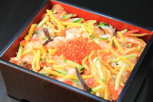 ひな祭り「Chirashi zushi (Scattered sushi)」:スマホ壁紙(5)