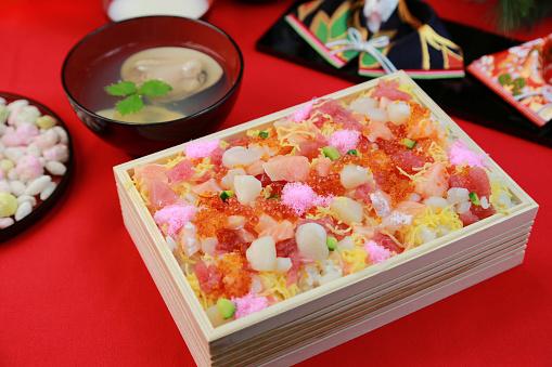 ひな祭り「Chirashi zushi」:スマホ壁紙(8)