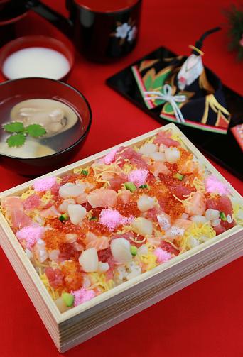 ひな祭り「Chirashi zushi」:スマホ壁紙(19)