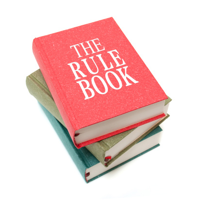 Hardcover Book「The Rule Books isolated on white background」:スマホ壁紙(13)