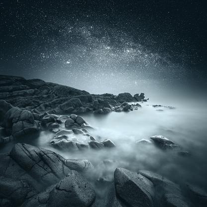 星空「Donegal coastline at night, Ireland」:スマホ壁紙(13)