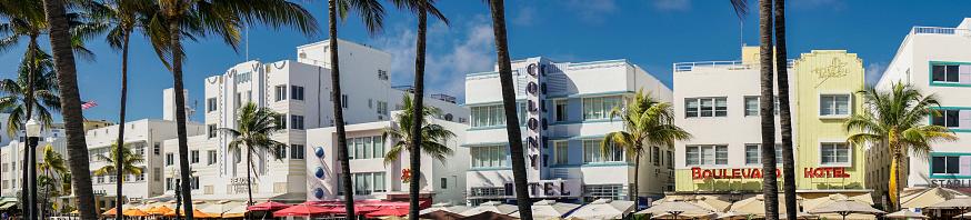 Miami Beach「Miami Beach. Panoramic view of Ocean Drive.」:スマホ壁紙(17)
