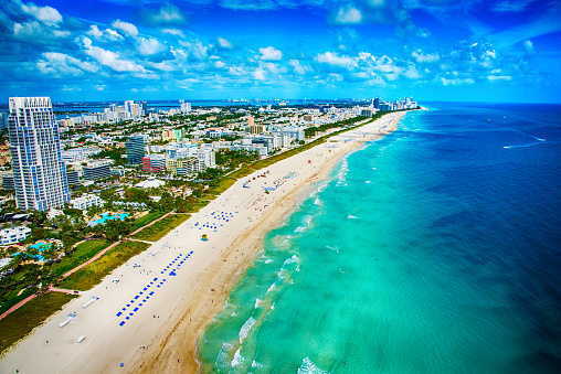 Miami Beach「Miami Beach Florida From Above」:スマホ壁紙(4)