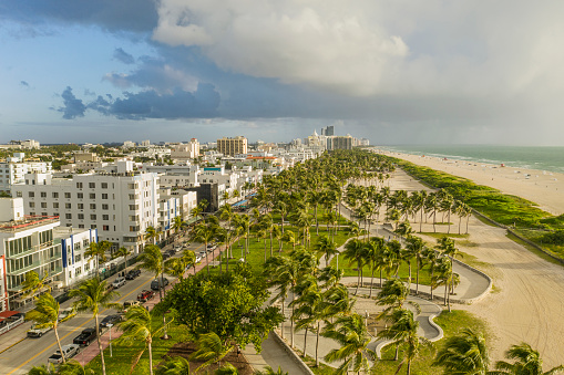 Miami「Miami Beach. Aerial view of South Beach.」:スマホ壁紙(5)