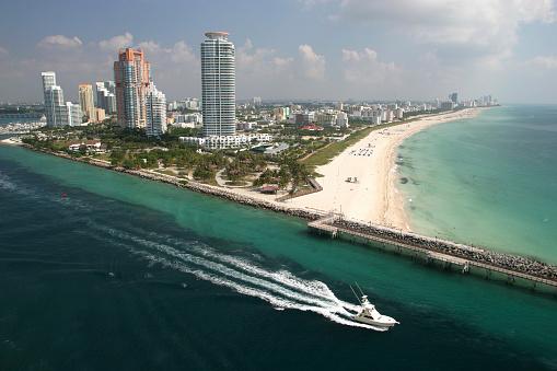 マイアミビーチ「マイアミビーチの空からの眺め」:スマホ壁紙(19)