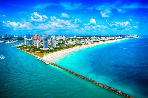 Miami「Miami Beach Wide Angle Aerial View」:スマホ壁紙(14)