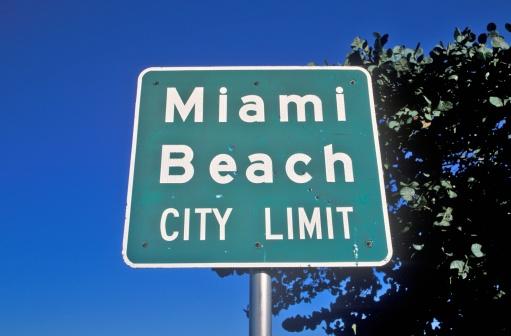 Miami Beach「'?Miami Beach City Limit? also known as south beach, Miami Beach, Florida'」:スマホ壁紙(9)
