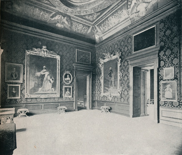 Ceiling「'Queen Caroline's Drawing-Room, at Kensington Palace', c1899, (1901)」:写真・画像(15)[壁紙.com]