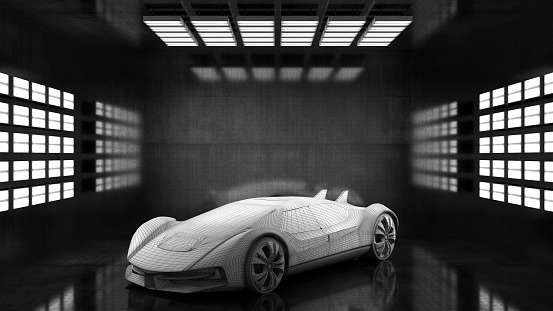 For Sale「Generic conceptual sports car in studio」:スマホ壁紙(16)