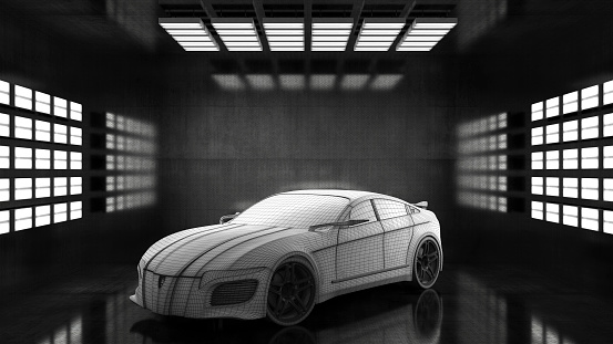 Car Dealership「Generic conceptual sports car in studio」:スマホ壁紙(6)