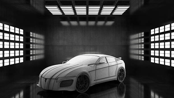 Generic conceptual sports car in studio:スマホ壁紙(壁紙.com)
