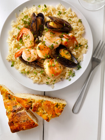 Asparagus「Seafood Risotto with Fresh Parsley」:スマホ壁紙(19)
