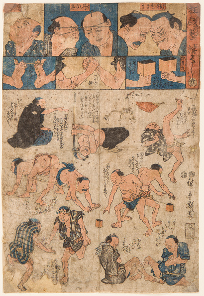 Painted Image「Training Movements Of The Sumo Wrestlers」:写真・画像(3)[壁紙.com]