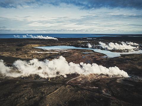 Lava「Geothermal power plants in Gunnuhver Hot Springs at Grindavik Iceland」:スマホ壁紙(7)