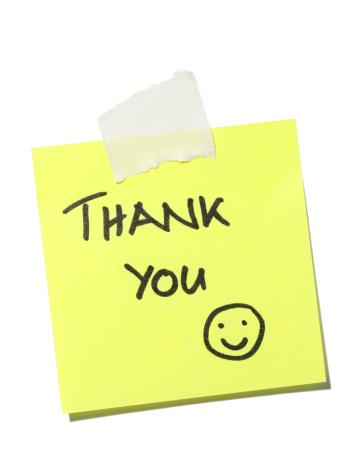 スマイルマーク「ありがとうございました。」:スマホ壁紙(2)