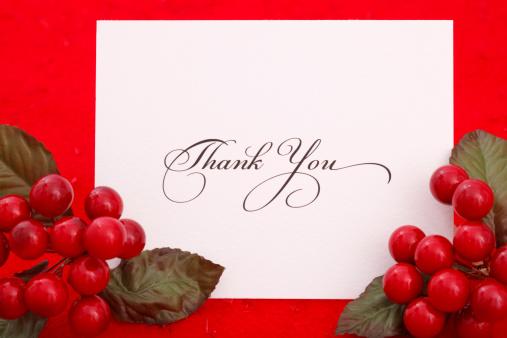 クリスマスカード「ありがとうございました。」:スマホ壁紙(19)