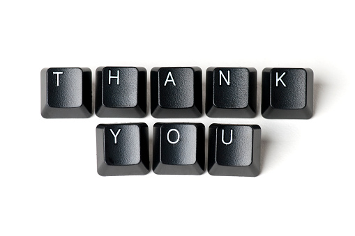 Computer Keyboard「Thank You」:スマホ壁紙(2)