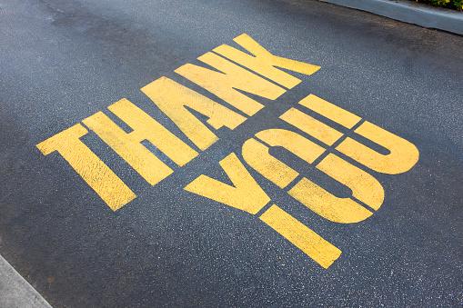 Gratitude「'Thank you' painted on concrete」:スマホ壁紙(7)