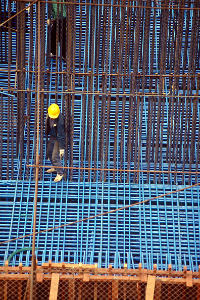 静物「Foundation construction. Tsing Ma suspension bridge. China. Constructed to link Hong Kong with Chek Lap Kok airport.」:写真・画像(7)[壁紙.com]