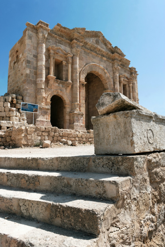 The Oval Piazza「Hadrianus Arch, site of Jerash, archeological site」:スマホ壁紙(6)