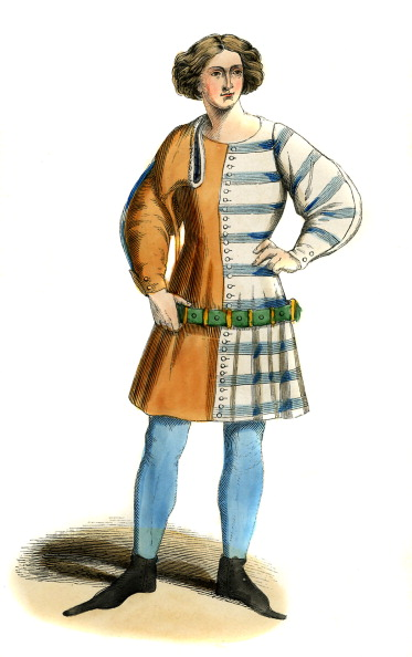 Circa 14th Century「Young Italian - male costume of 14th century」:写真・画像(0)[壁紙.com]