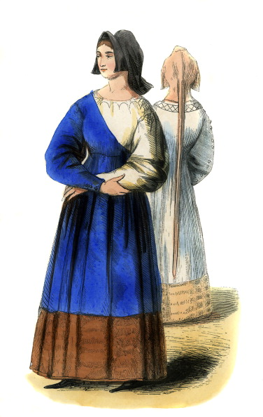 Circa 14th Century「Young Italian women - female costumes of 14th century」:写真・画像(9)[壁紙.com]