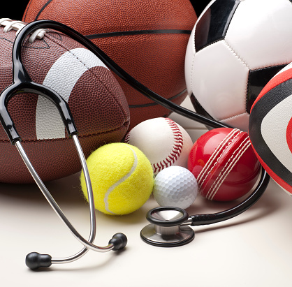 Sports League「Sports balls with stethescope」:スマホ壁紙(5)