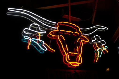 Males「Texas Longhorn Neon Sign」:スマホ壁紙(2)